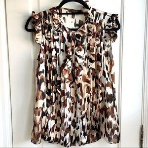 Escada 100% Silk Sleevless Animal Print Blouse